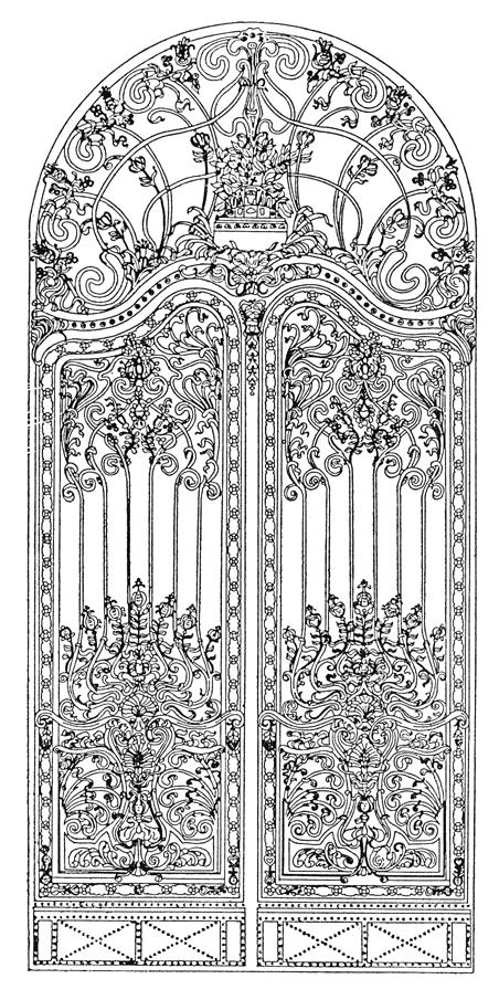 A volt királyi palota elpusztult kapuja (Jungfer Gyula, 1899)