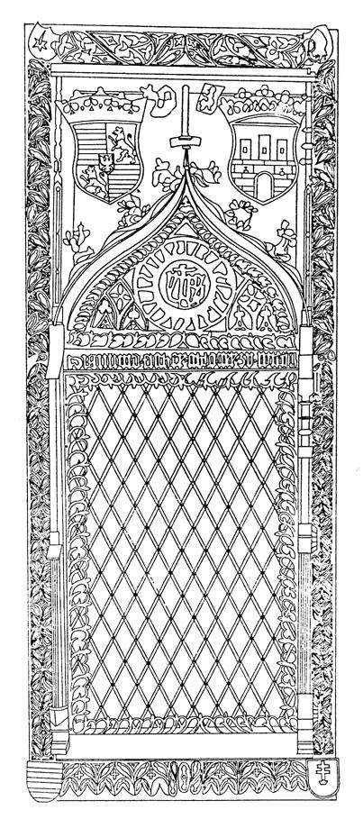 A pozsonyi dóm szentségházának vasajtaja, 1460 körül